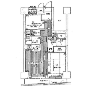 1SLDK {building type} in Iwagamicho - Kyoto-shi Nakagyo-ku Floorplan