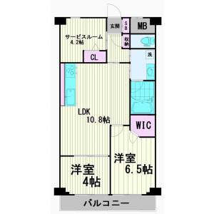 2SLDK Apartment in Higashishinagawa - Shinagawa-ku Floorplan