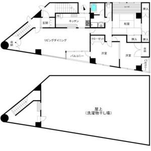 品川區戸越-2LDK公寓大廈 房間格局