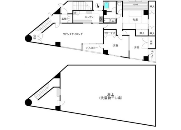在品川區內租賃2LDK 公寓大廈 的房產 房間格局