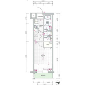 1K Mansion in Ohara - Setagaya-ku Floorplan
