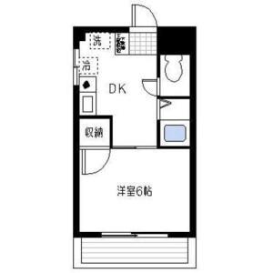 1DK Mansion in Futago - Kawasaki-shi Takatsu-ku Floorplan