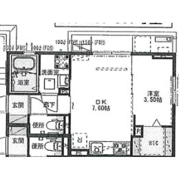 1DK Apartment in Benten - Chiba-shi Chuo-ku Floorplan