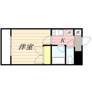 港區高輪-1K公寓大廈 房間格局