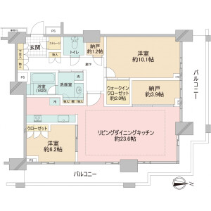 2SLDK Apartment in Konan - Minato-ku Floorplan