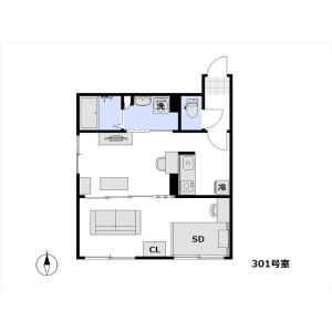 1DK Apartment in Hommachi - Shibuya-ku Floorplan