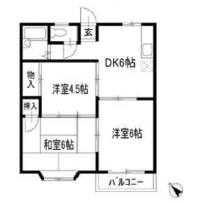 3DK Apartment in Katsutadai - Yachiyo-shi Floorplan