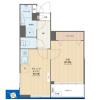 1DK Apartment to Buy in Shibuya-ku Floorplan