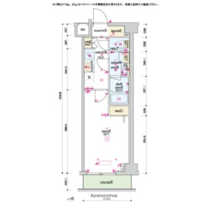 1K Mansion in Nakaochiai - Shinjuku-ku Floorplan