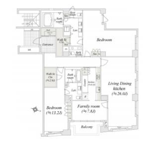 涩谷区神山町-2LDK公寓大厦 楼层布局