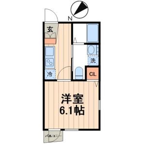 1K Mansion in Eitai - Koto-ku Floorplan