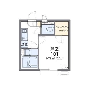 1K Apartment in Honda - Kokubunji-shi Floorplan
