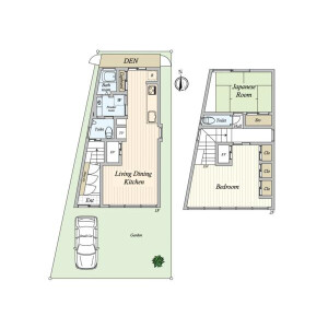 2LDK House in Seta - Setagaya-ku Floorplan