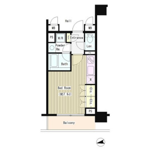1R Mansion in Kandanishikicho - Chiyoda-ku Floorplan