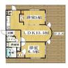 在大阪市中央區內租賃2LDK 公寓大廈 的房產 房間格局