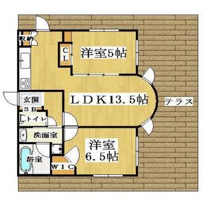 大阪市中央區島之内-2LDK公寓大廈 房間格局