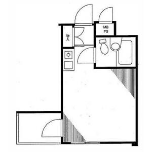 新宿区北新宿-1R公寓大厦 楼层布局