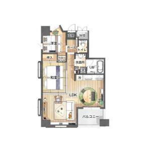 2LDK Mansion in Bentendori - Yokohama-shi Naka-ku Floorplan