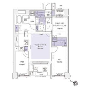 3LDK Mansion in Momijigaoka - Yokohama-shi Nishi-ku Floorplan