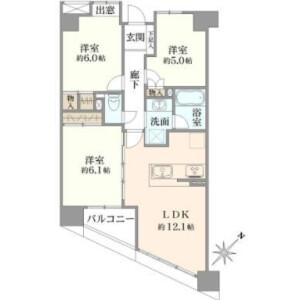 中央区新川-3LDK{building type} 楼层布局