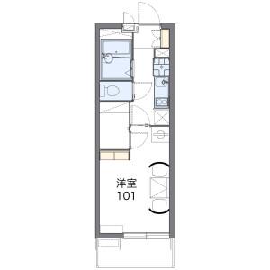1K 아파트 in Tajima - Saitama-shi Sakura-ku Floorplan
