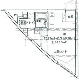 品川区東五反田-1R公寓大厦 楼层布局