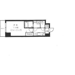 港区南麻布-1K公寓 楼层布局