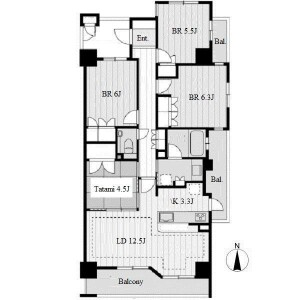 4LDK Apartment in Ishiganecho - Nagoya-shi Meito-ku Floorplan