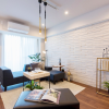 在澀谷區購買3LDK 公寓大廈的房產 起居室