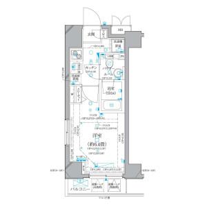 1K Mansion in Nihombashikayabacho - Chuo-ku Floorplan