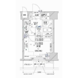 港區新橋-1K公寓大廈 房間格局