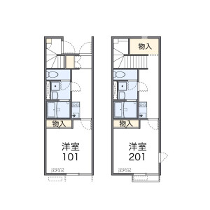 1K Apartment in Miyamae - Suginami-ku Floorplan