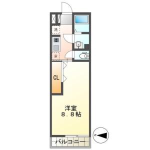 1K Mansion in Higashichiba - Chiba-shi Chuo-ku Floorplan