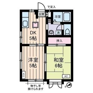 2DK Apartment in Gotokuji - Setagaya-ku Floorplan