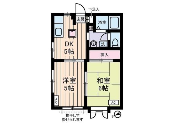 2DK アパート 世田谷区 間取り