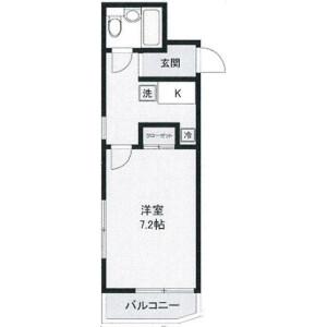 1K Mansion in Nishikubo - Musashino-shi Floorplan