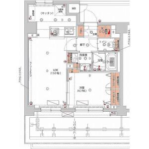 1LDK Mansion in Yamabukicho - Shinjuku-ku Floorplan