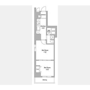 2K Mansion in Shinjuku - Shinjuku-ku Floorplan