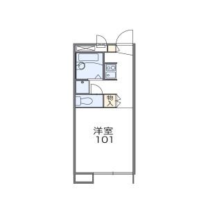 1K Apartment in Fukamidai - Yamato-shi Floorplan