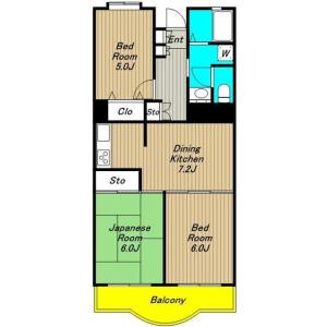 3DK Mansion in Kamitakaido - Suginami-ku Floorplan