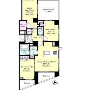 3LDK Mansion in Higashigaoka - Meguro-ku Floorplan