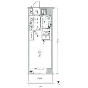 世田谷區等々力-1K公寓大廈 房間格局