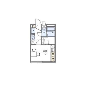 1K Apartment in Nishiichinoe - Edogawa-ku Floorplan