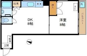 1DK Apartment in Motoazabu - Minato-ku