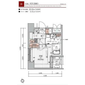 1K Mansion in Senju - Adachi-ku Floorplan