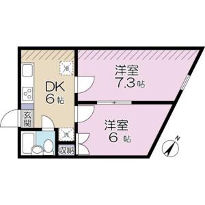 稻城市百村-2DK公寓大厦 楼层布局