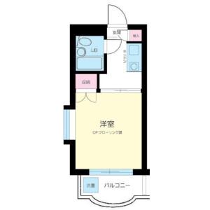 1K Mansion in Okurayama - Yokohama-shi Kohoku-ku Floorplan