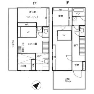 渋谷区 恵比寿西 3LDK アパート 間取り