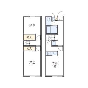 2DK Apartment in Harisurihigashi - Chikushino-shi Floorplan
