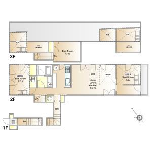 3LDK Apartment in Shimouma - Setagaya-ku Floorplan